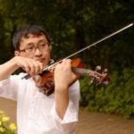 バイオリンの演奏。ハイポジションで