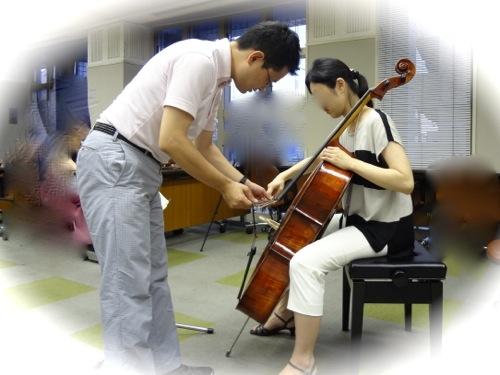 チェロ奏者とのワーク