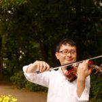 林試の森公園でバイオリンをひく・いちろーた