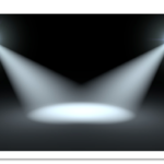 ステージを照らすスポットライト